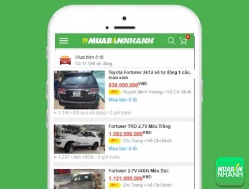 Giá các dòng xe Toyota Fortuner  trên mạng xã hội MuaBanNhanh