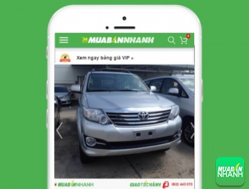 Xe ôtô Toyota Fortuner X 2.7 4x2 - sản phẩm đang bán trên mạng xã hội MuaBanNhanh