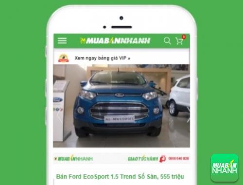 Xe ôtô Ford EcoSport Trend 1.5AT - sản phẩm đang bán trên mạng xã hội MuaBanNhanh