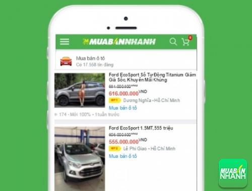 Giá các phiên bản xe Ford EcoSport trên mạng xã hội MuaBanNhanh