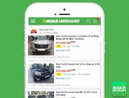 Giá các phiên bản xe Ford Everest trên mạng xã hội MuaBanNhanh
