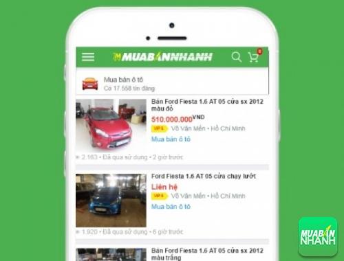Giá các phiên bản xe Ford Fiesta trên mạng xã hội MuaBanNhanh