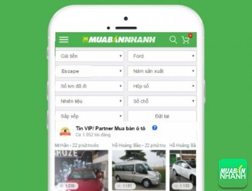 Tìm mua xe Ford Escape hiệu quả trên Mạng xã hội MuaBanNhanh