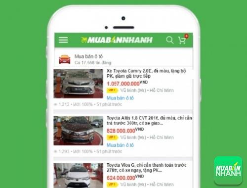 Giá các dòng xe Toyota trên mạng xã hội MuaBanNhanh