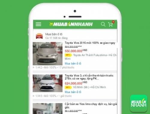 Giá các dòng xe Toyota Vios trên mạng xã hội MuaBanNhanh
