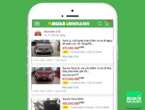 Giá các dòng xe Toyota Yaris trên mạng xã hội MuaBanNhanh