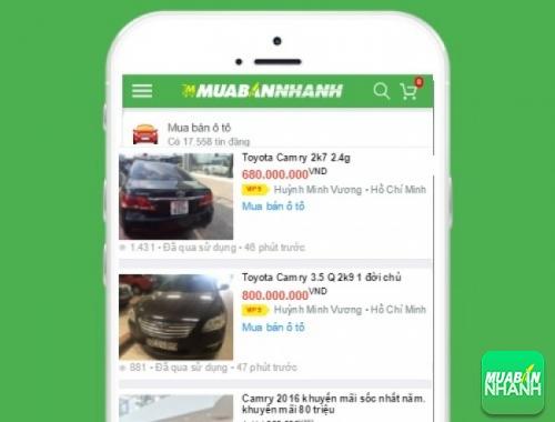 Giá các dòng xe Toyota Camry trên mạng xã hội MuaBanNhanh