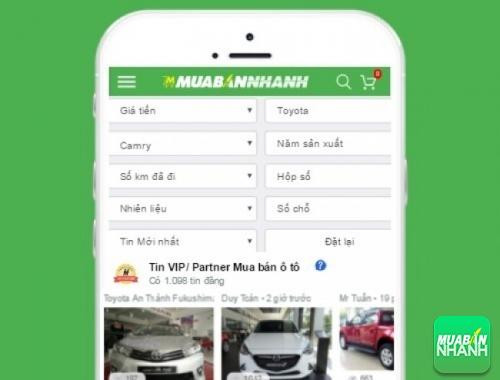 Tìm mua xe Toyota Camry hiệu quả trên Mạng xã hội MuaBanNhanh