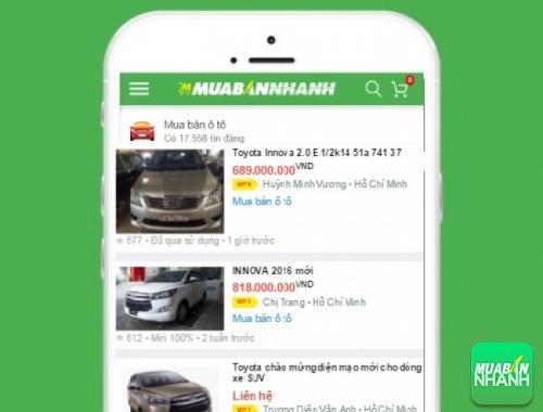 Giá các dòng xe Toyota Innova trên mạng xã hội MuaBanNhanh