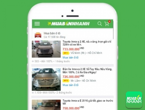 Giá các dòng xe Toyota Innova E trên mạng xã hội MuaBanNhanh