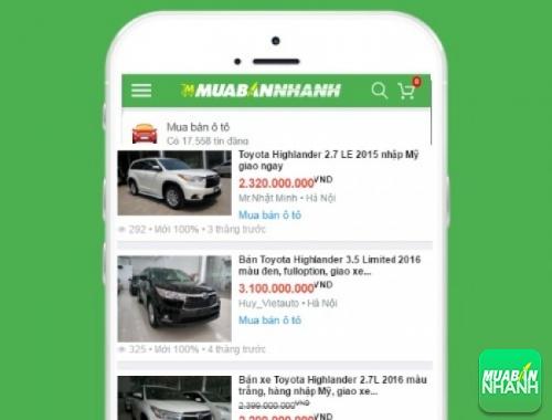 Giá các dòng xe Toyota Highlander trên mạng xã hội MuaBanNhanh