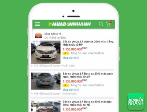 Giá các dòng xe Toyota Venza trên mạng xã hội MuaBanNhanh