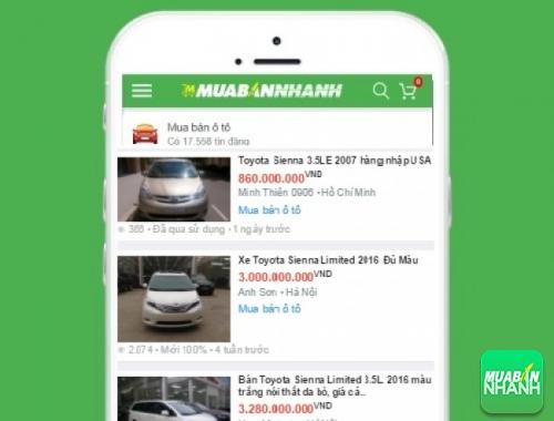 Giá các dòng xe Toyota Sienta trên mạng xã hội MuaBanNhanh