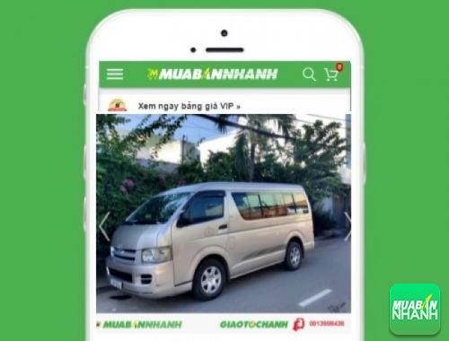 Xe ôtô Toyota Hiace - sản phẩm đang bán trên mạng xã hội MuaBanNhanh