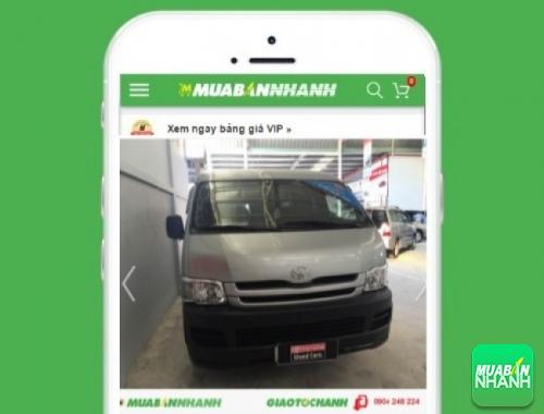 Xe ôtô Toyota Hiace động cơ Gas (máy xăng) - sản phẩm đang bán trên mạng xã hội MuaBanNhanh