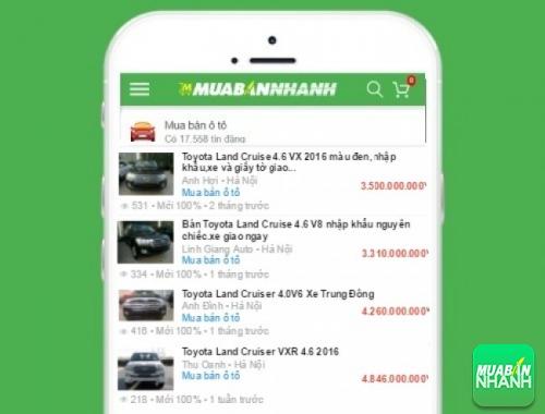 Giá xe Toyota Land Cruiser trên mạng xã hội MuaBanNhanh