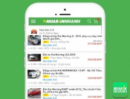 Giá các phiên bản xe Kia Morning trên mạng xã hội MuaBanNhanh