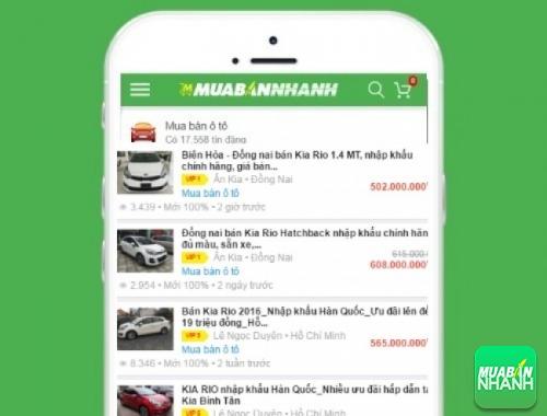 Giá các phiên bản xe Kia Rio trên mạng xã hội MuaBanNhanh