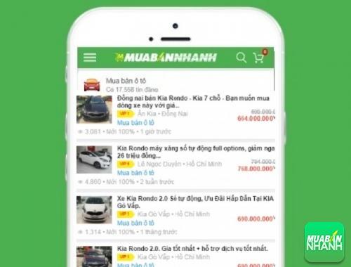 Giá các phiên bản xe Kia Rondo trên mạng xã hội MuaBanNhanh