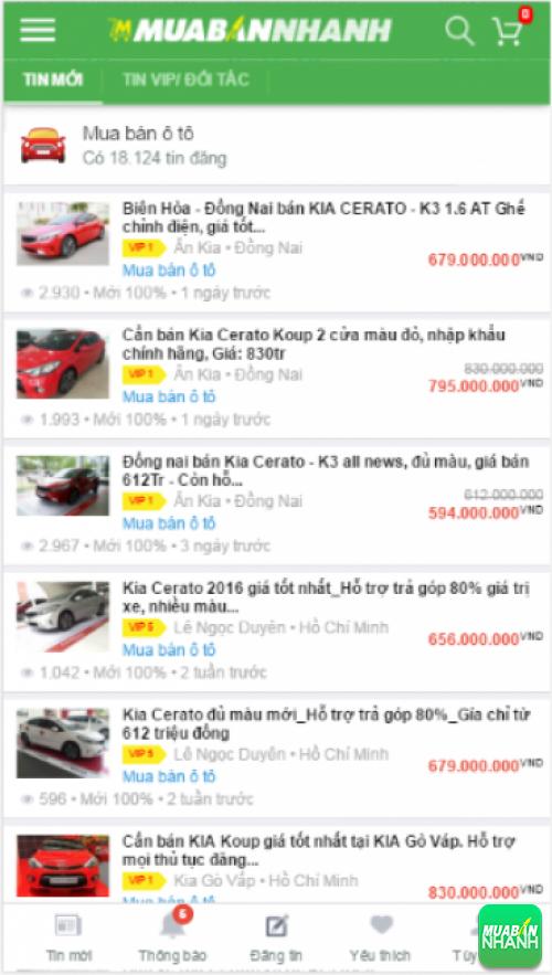 Giá các phiên bản xe Kia Cerato trên mạng xã hội MuaBanNhanh