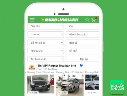 Tìm mua xe Kia Cerato hiệu quả trên Mạng xã hội MuaBanNhanh