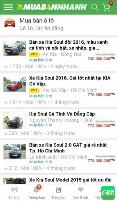 Giá các phiên bản xe Kia Soul trên mạng xã hội MuaBanNhanh