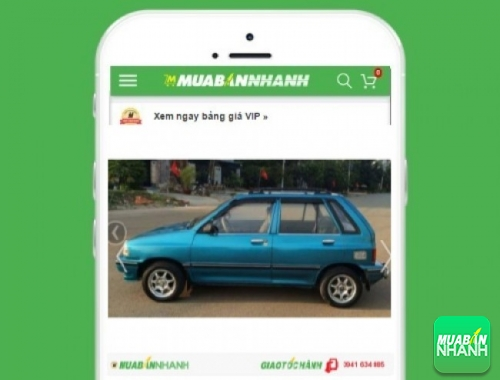 Xe ôtô Kia Pride - sản phẩm đang bán trên mạng xã hội MuaBanNhanh