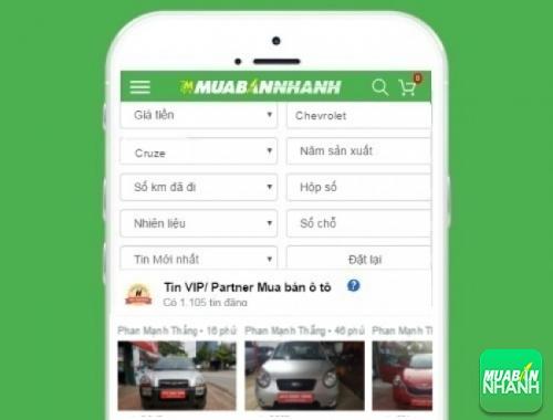 Tìm mua xe Chevrolet Cruze hiệu quả trên Mạng xã hội MuaBanNhanh