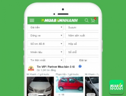 Tìm mua xe Suzuki hiệu quả trên Mạng xã hội MuaBanNhanh