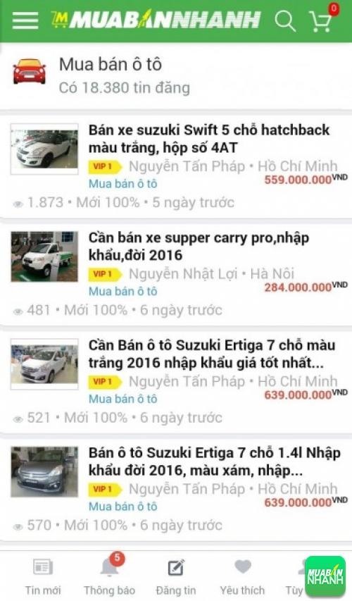 Giá các dòng xe Suzuki trên mạng xã hội MuaBanNhanh