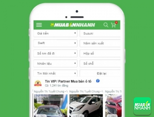 Tìm mua xe Suzuki Swift hiệu quả trên Mạng xã hội MuaBanNhanh