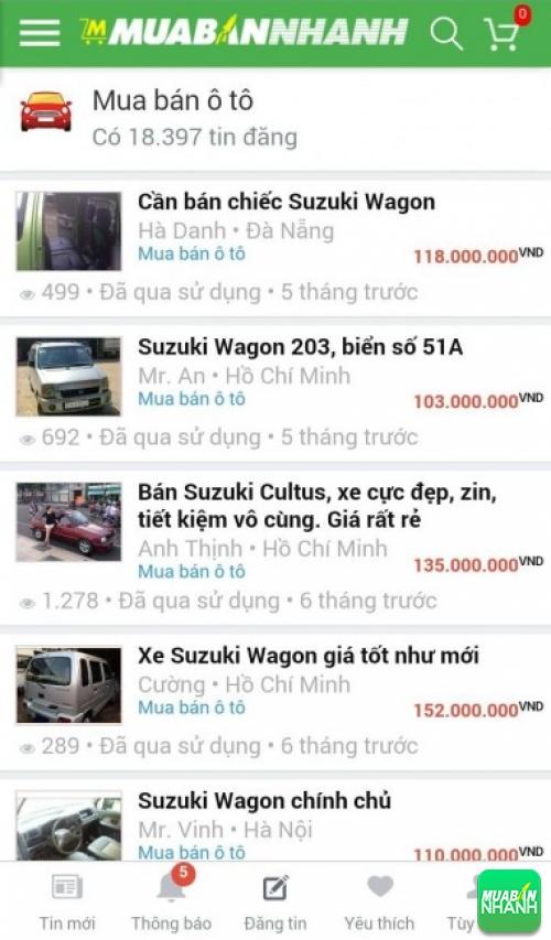 Giá xe Suzuki Wagon trên mạng xã hội MuaBanNhanh