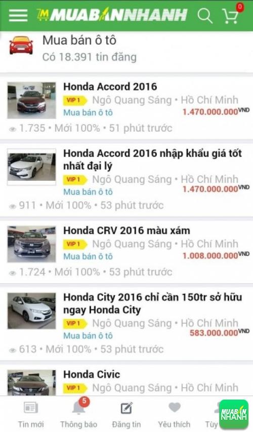Giá các dòng xe Honda trên mạng xã hội MuaBanNhanh
