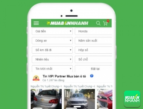 Tìm mua xe ôtô Honda hiệu quả trên Mạng xã hội MuaBanNhanh