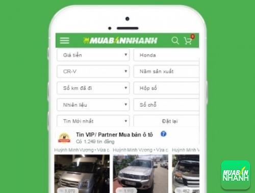 Tìm mua xe ôtô Honda CR-V hiệu quả trên Mạng xã hội MuaBanNhanh