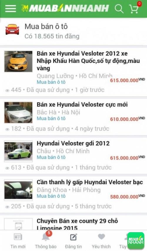 Giá các phiên bản xe Hyundai Veloster trên mạng xã hội MuaBanNhanh