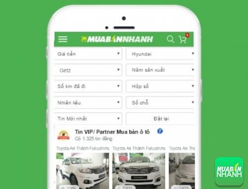 Tìm mua xe ôtô Hyundai Getz hiệu quả trên Mạng xã hội MuaBanNhanh