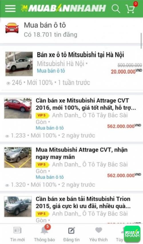 Giá các dòng xe Mitsubishi Attrage trên mạng xã hội MuaBanNhanh