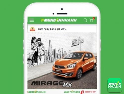 Xe ôtô Mitsubishi Mirage - sản phẩm đang bán trên mạng xã hội MuaBanNhanh