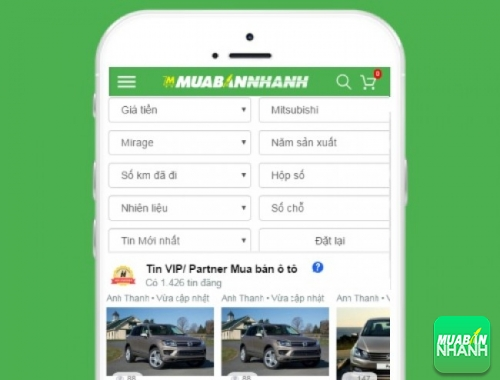 Tìm mua xe ôtô Mitsubishi Mirage hiệu quả trên Mạng xã hội MuaBanNhanh
