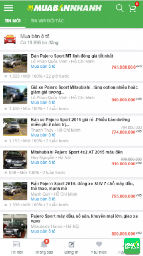 Giá các dòng xe Mitsubishi Pajero trên mạng xã hội MuaBanNhanh