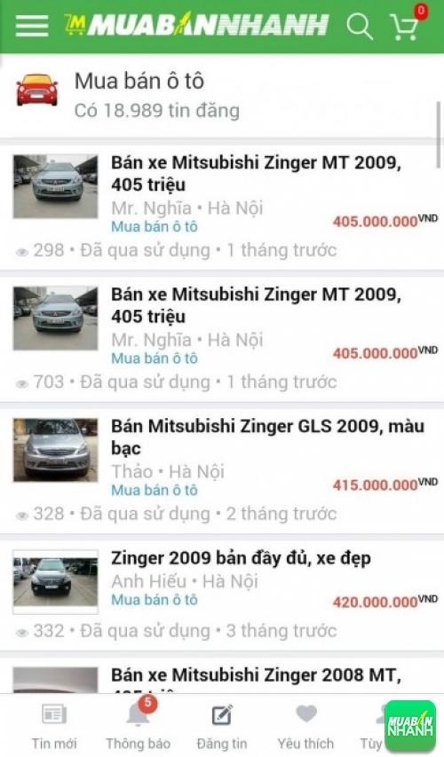 Giá các dòng xe Mitsubishi Zinger trên mạng xã hội MuaBanNhanh