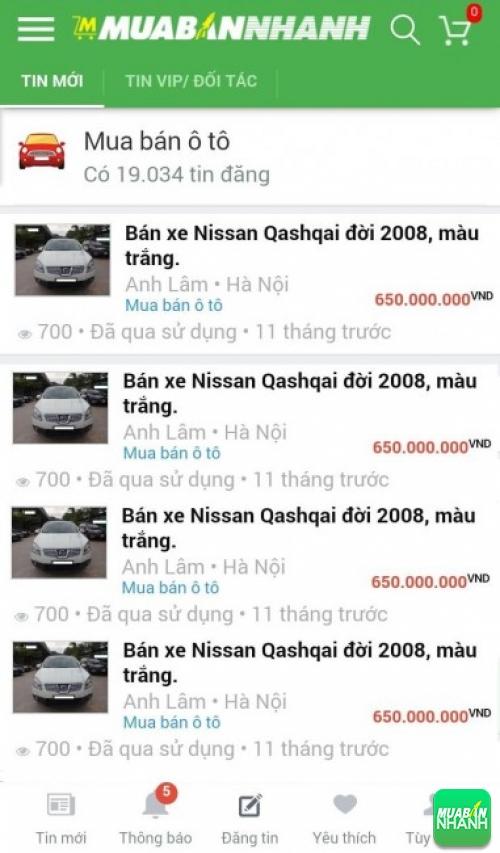 Giá xe Nissan Qashqai trên mạng xã hội MuaBanNhanh